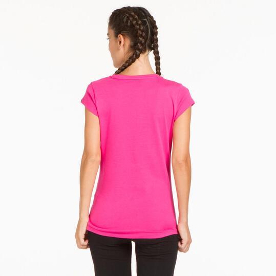 PUMA ELEMENTAL Camiseta Fucsia Mujer