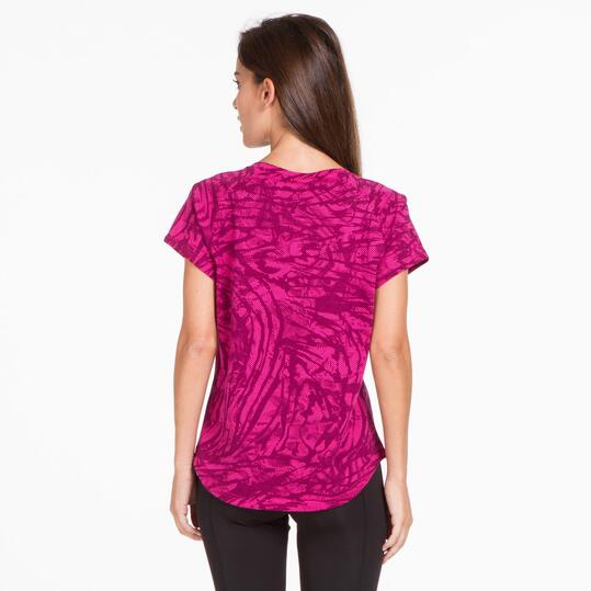 PUMA COLLISION Camiseta Estampada Fucsia Mujer