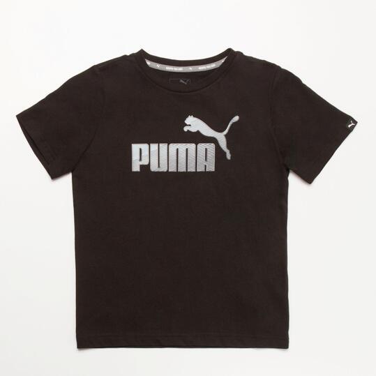PUMA HERO Camiseta Negra Niño (10-16)