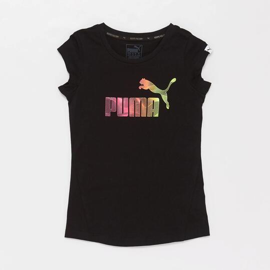 PUMA Camiseta Negra Niña (10-16)