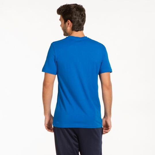 REEBOK Camiseta Manga Corta Azul Hombre