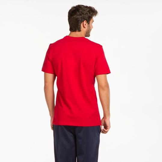 REEBOK Camiseta Manga Corta Rojo Hombre