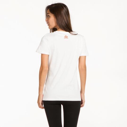 REEBOK Camiseta Blanca Mujer