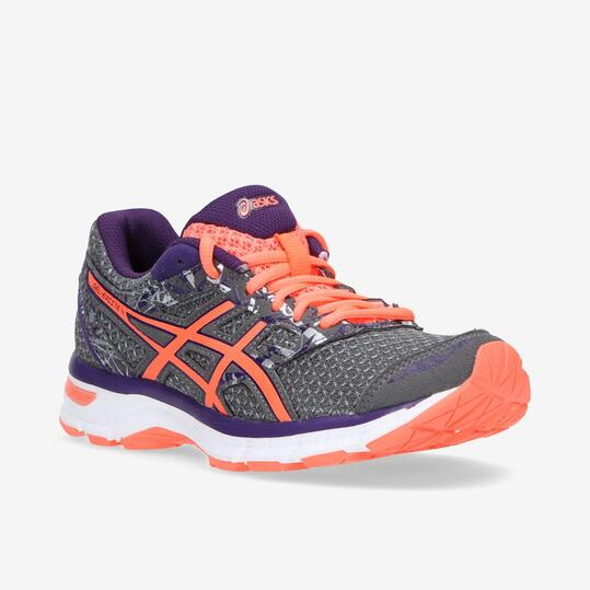 ASICS GEL EXCITE 4 Zapatillas Running Gris Naranja Mujer