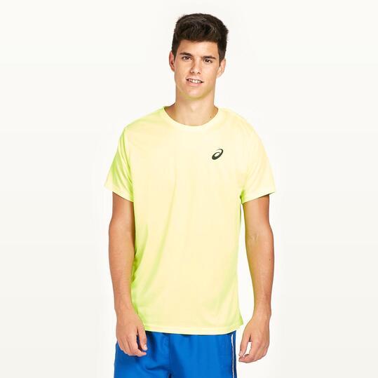 ASICS Camiseta Running Flúor Hombre
