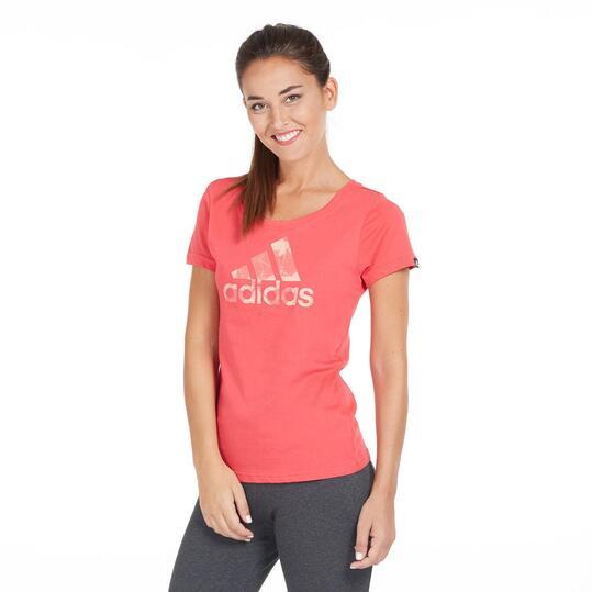 camiseta mujer roja adidas