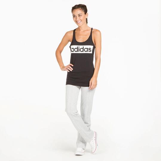 ADIDAS LINEAR TANK Camiseta Gym Negra Mujer