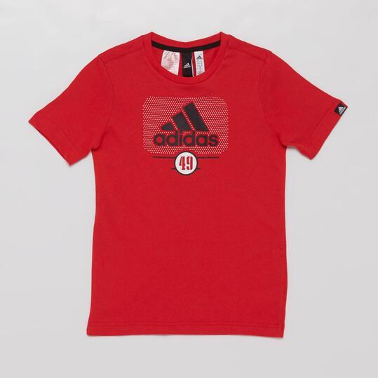ADIDAS Camiseta Manga Corta Roja Niño (10-16)