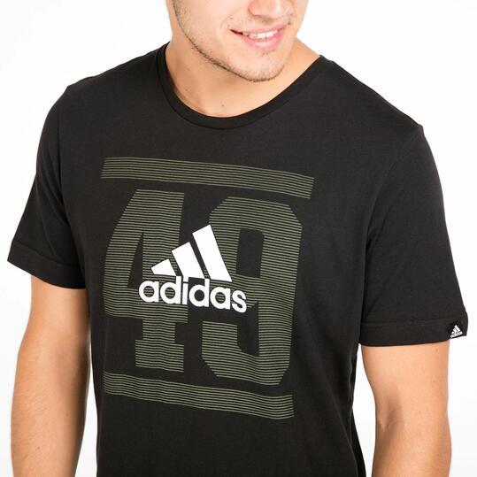 ADIDAS Camiseta Manga Corta Negra Hombre