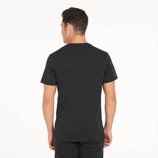 ADIDAS NETS Camiseta Manga Corta Negra Hombre