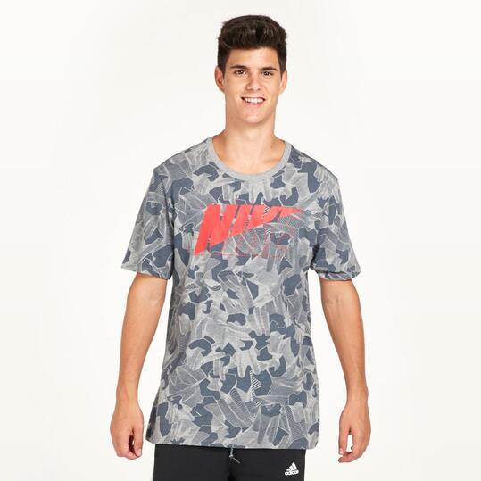 NIKE Camiseta Estampada Gris