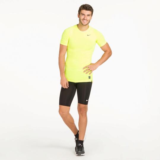 NIKE Camiseta Negra Running Hombre
