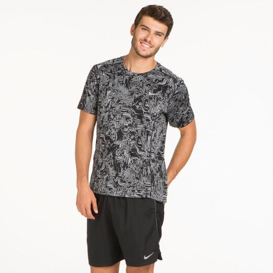 NIKE Camiseta Running Estampada Hombre