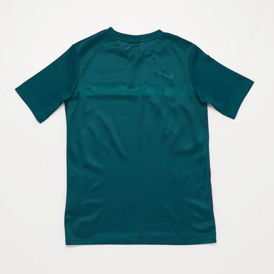 NIKE ACADEMY Camiseta Fútbol Marino Verde Niño (10-16)