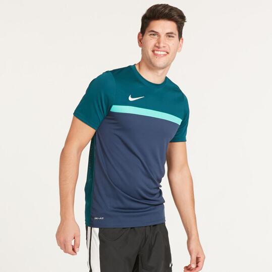 NIKE ACADEMY Camiseta Fútbol Marino Verde Hombre
