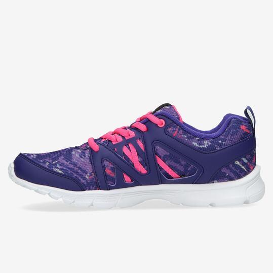REEBOK Zapatillas Running Estampado Morado Mujer