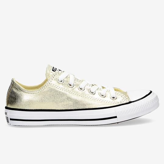CONVERSE ALL STAR Zapatillas Lona Oro Mujer
