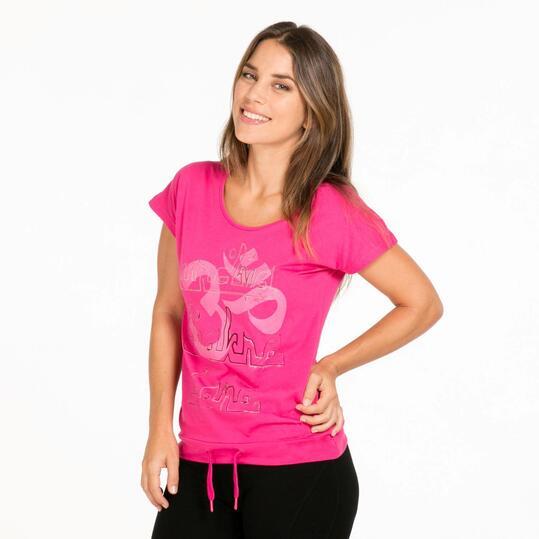 Camiseta Gym ILICO ZEN Fucsia Mujer
