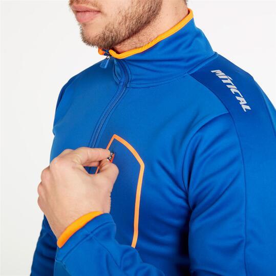 Chaqueta Ciclismo MÍTICAL PLATA Azul Naranja Hombre