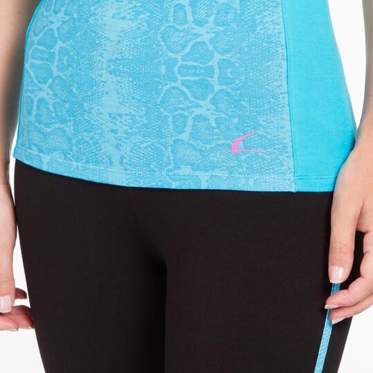 Camiseta Gym ILICO BRONCE Turquesa Mujer