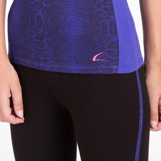 Camiseta Gym ILICO BRONCE Azul Mujer