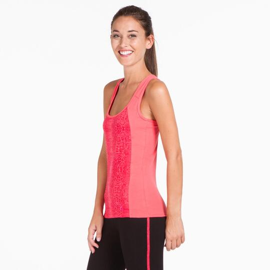 Camiseta Gym ILICO BRONCE Coral Mujer