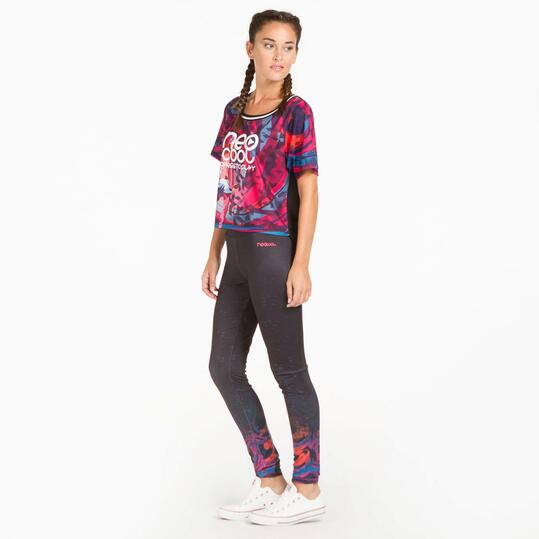 Camiseta Estampada SILVER TECH Multicolor Mujer