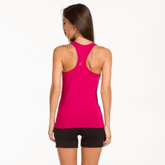 Camiseta Espalda Nadadora ILICO Fucsia Oscuro Mujer
