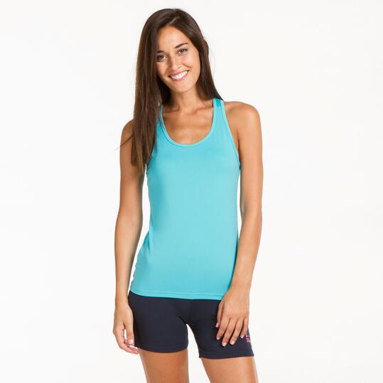 Camiseta Espalda Nadadora ILICO Turquesa Mujer
