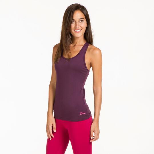 Camiseta Espalda Nadadora ILICO Morado Mujer