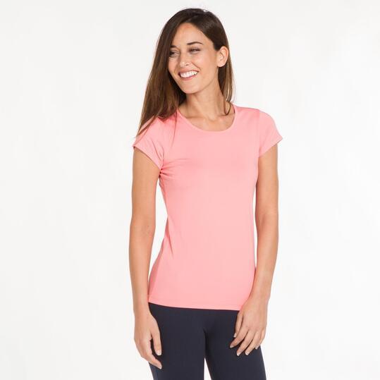 Camiseta Gym ILICO Rosa Mujer