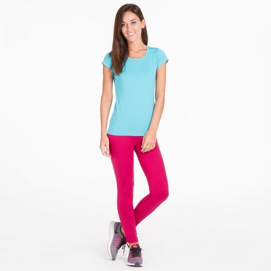 Camiseta Gym ILICO Turquesa Mujer