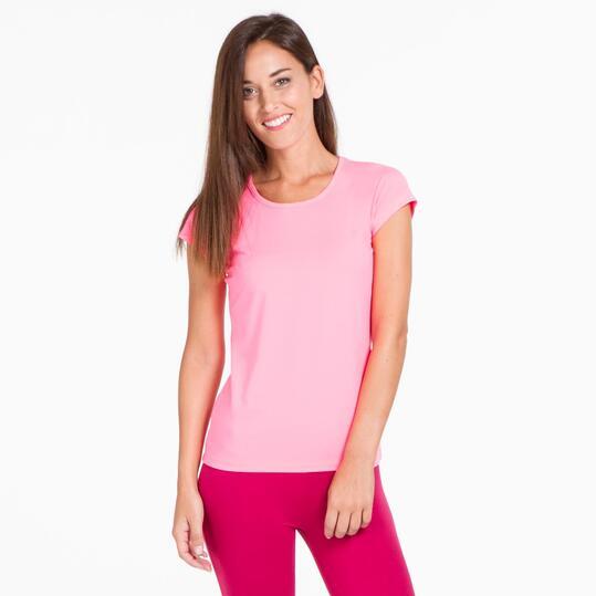 Camiseta Gym ILICO Rosa Flúor Mujer