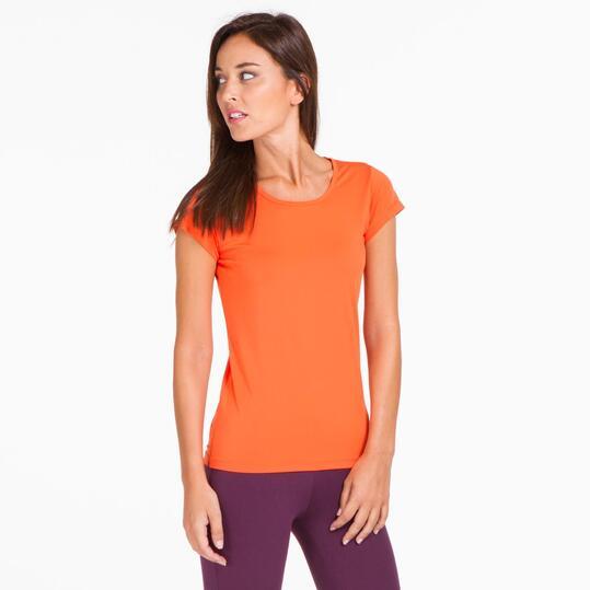 Camiseta Gym ILICO Naranja Mujer
