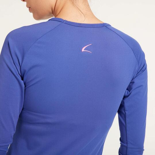 Camiseta Manga Larga Gym ILICO Azul Mujer