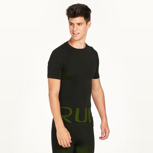 Camiseta Running IPSO REFLECTIVE Negra Hombre