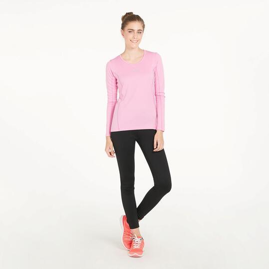 Camiseta Manga Larga Running IPSO BASIC Rosa Mujer