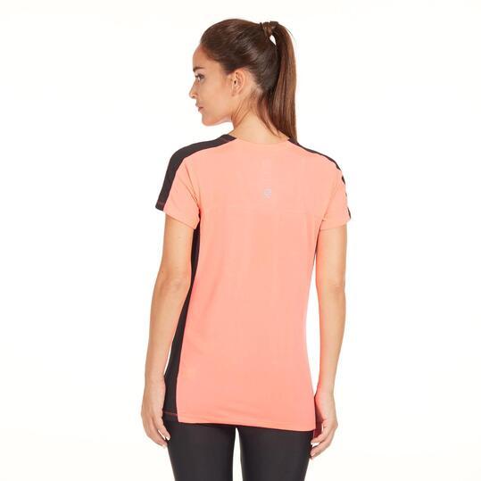 Camiseta Running IPSO COMBI Coral Mujer