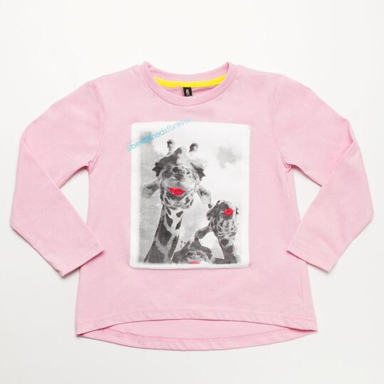 Camiseta SILVER STAMPS Rosa Niña (2-8)