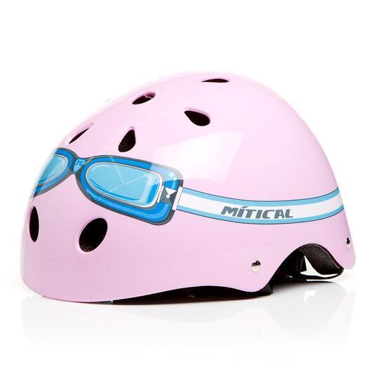 Casco Bici Niña MÍTICAL GOOGLES Rosa (XS)