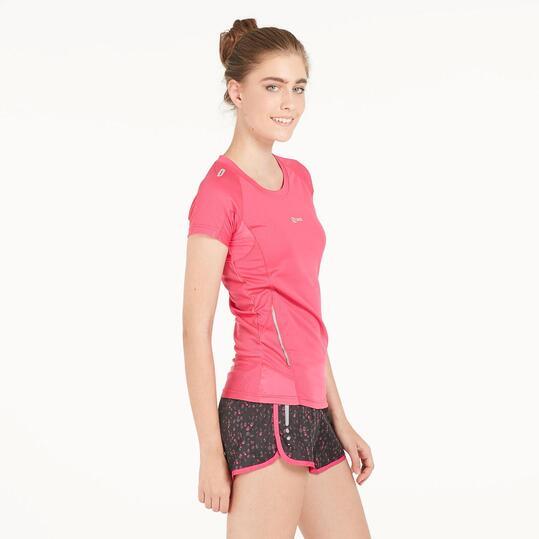 Camiseta Running IPSO EXPERIENCE Fucsia Mujer