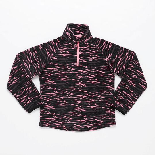 Forro Polar UP BASIC Estampado Negro Rosa (10-16)