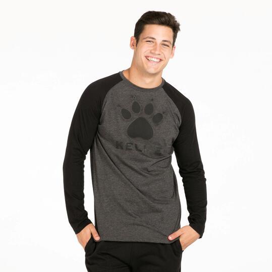 KELME Camiseta Manga Larga Gris Negro Hombre
