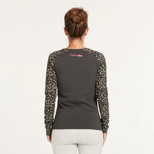 KELME Camiseta Manga Larga Mangas Leopardo Mujer