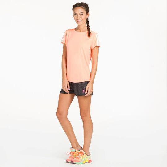 ADIDAS Camiseta Running Rosa Mujer