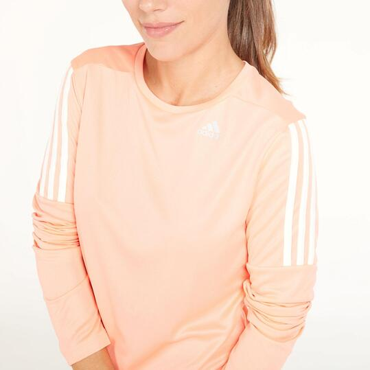 ADIDAS RUNNING Camiseta Manga Larga Naranja Mujer