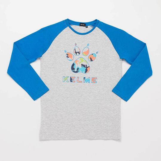 KELME Camiseta Manga Larga Gris Azul Niño (10-16)