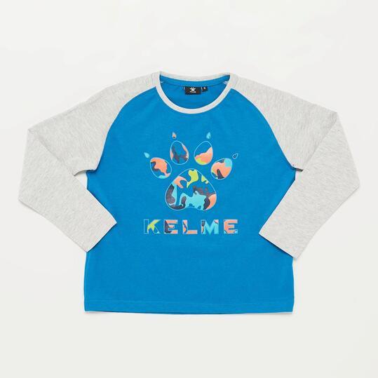 KELME Camiseta Manga Larga Azul Gris Niño (2-8)