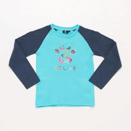 KELME Camiseta Manga Larga Azul Niño (2-8)