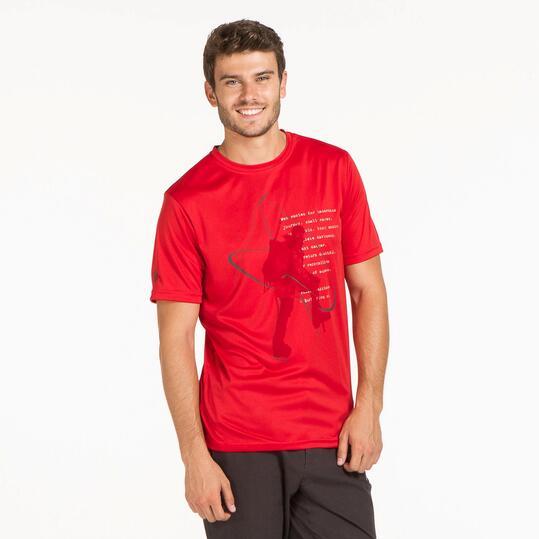 Camiseta Roja BORIKEN HUNZA Hombre